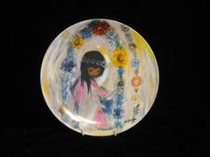 Ted De Grazia Welcome to the Fiesta plate by SharriesLOVECOMFORTS on Etsy Native American Children, Vintage Crockery, Sale Sale, Welcome, Nativity, Ted, Plates, Artist, Painting