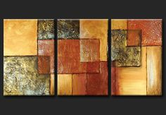 Cuadros Abstractos Modernos En Acrilico  Texturados-relieves Multi Canvas Painting, Abstract Canvas, Canvas Wall Art, Texture Art, Texture Painting, Diy Wall Art, Home Wall Art, Art Abstrait, Geometric Art