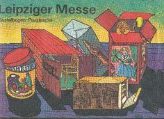 """DDR Museum - Museum: Objektdatenbank - Bastelbogen """"Leipziger Messe""""    Copyright: DDR Museum, Berlin. Eine kommerzielle Nutzung des Bildes ist nicht erlaubt, but feel free to repin it!"""