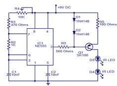 led blinking circuits electronics pinterest. Black Bedroom Furniture Sets. Home Design Ideas