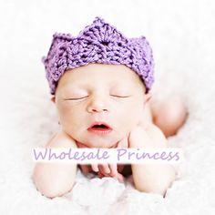 Purple Crochet Baby Crown