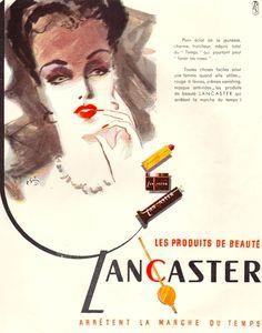 Lancaster Cosmetics Ad, 1947
