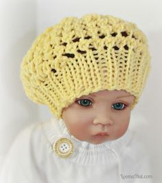 (6) Name: 'Knitting : Loom Knit Baby Slouchy Hat Three Step