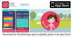 Goed nieuws voor onze volgers op Facebook en andere sociale media: de officiële lancering is pas aanstaande maandag, maar jij kunt de PocketEnergy app voor iOS vanaf nu al tijdelijk gratis downloaden via http://appstore.com/pocketenergy!