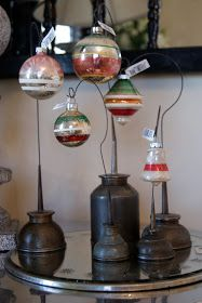 oil can + ornaments