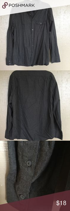 American Eagle AEO Men's Slim XL flannel Shirt Only tried on once is this American Eagle Outfitters Grey Flannel Button Up. Size Men's Slim XL. American Eagle Outfitters Shirts Casual Button Down Shirts