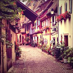 Just to walk down these cobble stone roads once a day. Would be awesome