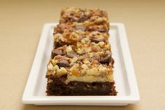 Cream Cheese Brownies with Toffee and Pecans | Bake or Break --- Magnolia Bakery