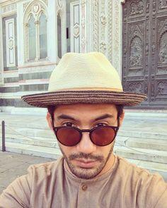 @officialpilarez wears O'Malley NYC Reza Rahadian, Round Sunglasses, Mens Sunglasses, Oliver Peoples, Panama Hat, Eyewear, Bae, Idol, Profile