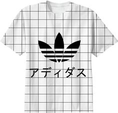 Health Goth Japanese Adidas Grid Shirt designed by | Print All Over Me