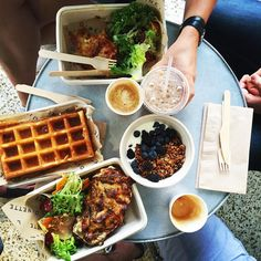 "Ali Melia Jepson on Instagram: ""Craving waffles for my birthday: remedied with family breakfast @dinette.la. Here's to starting off a new year right. #dineLA"""