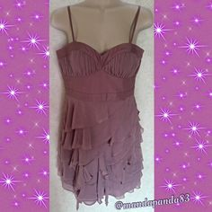 Guess Formal Chiffon Style Dress EUC This dress is so stunning! It's a light lavender color, has a sweetheart neckline, empire waist with a flowy chiffon style bottom. Dry clean only! Guess Dresses Prom