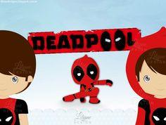 Doll cute: Deadpool  Versão: personagem, menino e menina
