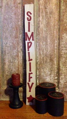 Simify Prim Sign From Reclaimed Wood