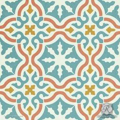 Faux Spanish Tile Designs for Painting Pattern on Walls and Floors - Toledo Tile Stencils - Royal Design Studio Painting Tile Floors, Painted Floors, Stencil Painting, Painting Patterns, Tile Patterns, Floor Patterns, Stenciling, Layout Design, Tile Design