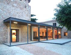 'Maison Z' ('house Z'), Architect Gil Percal House Extension Design, Glass Extension, Villa, Modern Garden Design, Modern Farmhouse Exterior, House Extensions, Stone Houses, Modern Buildings, Exterior Design