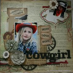 Cowgirl scrapbook layout - Heart-2-Home