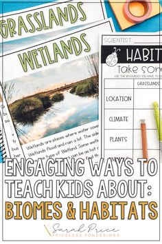 Help your elementary students explore, learn, and write about biomes, habitats, and ecosystems. Check out these engaging low-prep activities and worksheets, great for a third grade science class. Second Grade Science, Animal Habitats, Fun Worksheets, Biomes, Hands On Activities, Vocabulary, Students, Teaching, Explore