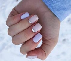 Accurate nails Delicate nails Half-moon nails ideas Ideas of gentle nails Multi-color nails Party nails Short half moon nails Spring nails 2019 Nail Manicure, Gel Nails, Acrylic Nails, Nail Polish, Spring Nail Colors, Spring Nails, Moon Nails, Prego, American Nails