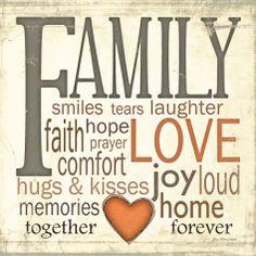 Family Typography Posters van Jo Moulton bij AllPosters.nl