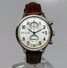 Paul Smith LIMITED EDITION TWO TONE THE CITY TWO COUNTER CHRONOGRAPH WATCH