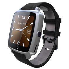 """Smart Watch, YAMAY® Universal Bluetooth Smartwatch Phone Waterproof with Sim Card Slot Camera Video Music Player Leather Band for iOS Android iPhone Samsung LG Phones for Running Sport Women Men. Main Function: Pedometer, Sleep Monitor, Social Media Notifications, Sedentary Remind, Remote Camera Capture, Phone Call, Text Messaging, Find Phone, Recording, Time Display, Alarm Clock, Stopwatch, Calendaring. 1.54"""" HD IPS OLED Touch Screen, 240*240 Pixels. Sweatproof PU Leather Band with..."""