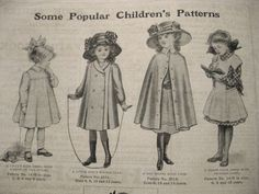 1910s Children's fashion. 1910 was one of the first times that children were seen wearing clothing that was not a complete replica of those that adults were also wearing. New children's clouting allowed more movement and less restriction. However, girls were still wearing dresses with dropped waists and pleated skirts.