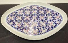 Noritake Primastone Stoneware Platter 8315 Image Japan Blue Pink 1970s Vintage | eBay