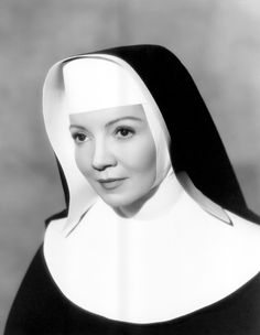 """Claudette Colbert (previous entry) played a nun in an English convent in the 1951 mystery thriller """"Thunder on the Hill"""". Colbert's character, Sr. Mary Bonaventure, becomes involved in a murder mystery when the suspect ends up at the convent taking shelter with her guard during a severe storm. The film co-starred fellow Catholic, Ann Blyth, as the suspected murderess."""
