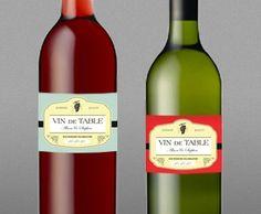 Custom wine label idea
