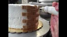How to make a Basketweave on a cake by Crumb Boss