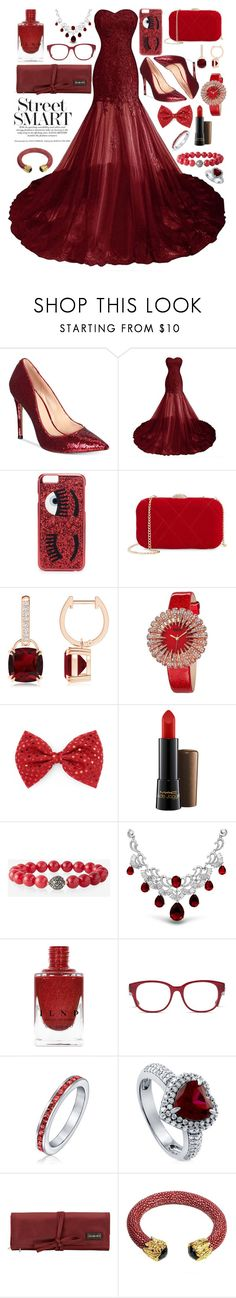 """red beauty."" by pikamikey ❤ liked on Polyvore featuring ALDO, Chiara Ferragni, Nina, bürgi, MAC Cosmetics, Express, Bling Jewelry, Gucci, BERRICLE and Hadaki"