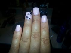 Light pink nails with design
