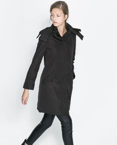 Image 2 of LONG QUILTED COAT from Zara