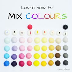 How to mix colours - TUTORIAL How to mix colors / free, tips, fondant, gum paste, toppers, figurines, cake