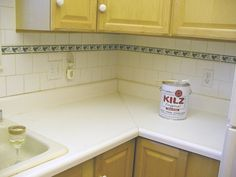 A Counter Top Make Over With Paint That Will Wow You