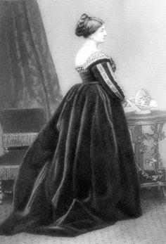 Grabado de Louisa Beresford, marquesa de Waterford (1818-1891), acuarelista de la escuela prerrafaelista y filántropo. (Public Domain) #miercolesretratos #EnciclopediaLibre