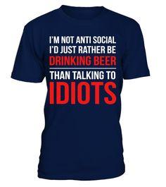 Tshirt  Drinking beer than talking idiots  fashion for men #tshirtforwomen #tshirtfashion #tshirtforwoment