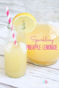 This Sparkling Pineapple Lemonade is sure to be a crowd favorite for years to come! This Sparkling Pineapple Lemonade is sure to be a summer hit for years to come! Party Drinks, Cocktail Drinks, Fun Drinks, Healthy Drinks, Beverages, Nutrition Drinks, Nutrition Bars, Cold Drinks, Healthy Food