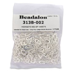 Beadalon Medium Hook and Eye Clasps, Silver Plate, Set of 144 Beadalon http://www.amazon.com/dp/B004YOSVJ0/ref=cm_sw_r_pi_dp_nAz-tb1WCXHMG