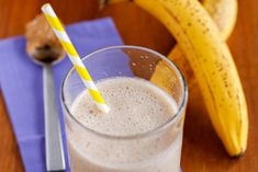 Banana Almond Energy Smoothie {Before Sports Snack}