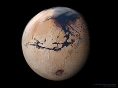 Mars. How beautiful Mars looks. It almost looks like a root vegetable, all bathed in red dirt.