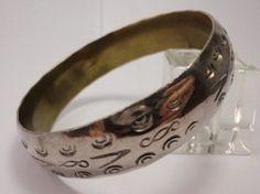 Vintage Mexican Silver Bracelet Bangle Taxco Sterling 925