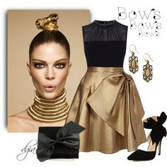 Bows by dgia on Polyvore featuring Karen Millen, Dice Kayek, Victoria Beckham and Armenta