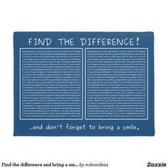 Find the difference and bring a smile doormat