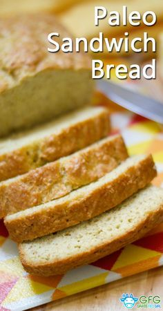 I made this gluten and grain free Paleo bread recipe for my husband who was craving a sandwich. It was really light and fluffy for being gluten free bread.