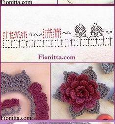 Boa semana a todos! E para comemorar a chegada da primavera trouxe flores em crochê (imagens da Net): ...