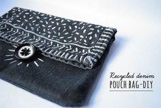 Recycled denim pouch bag {DIY} | Jessica Rebelo Visual Designer