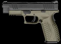 Springfield XD-M OD Green, gonna be my future duty pistol Home Defense, Self Defense, Springfield Arms, Guns And Ammo, Tactical Gear, Firearms, Hand Guns, Weapons, Rifles