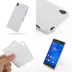 PDair Soft Plastic Case for Sony Xperia Z3 (White/S Shape pattern)